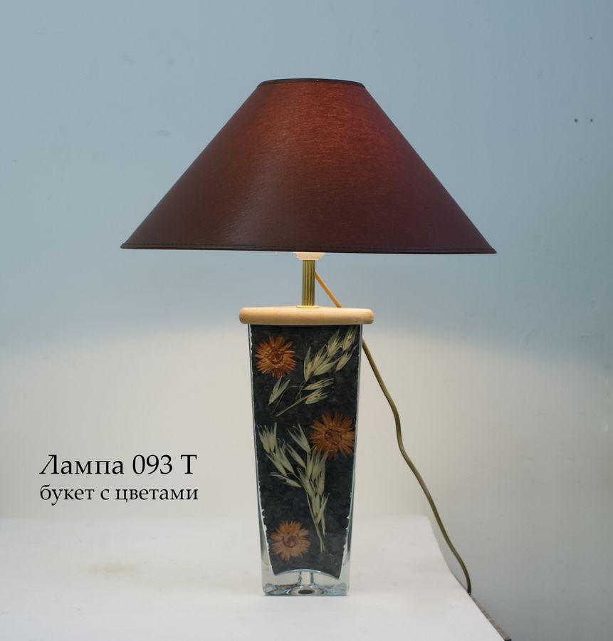 Настольная лампа с цветами С093.40Т