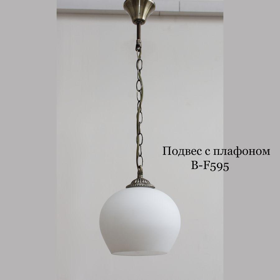 Стеклянный плафон для светильников B-F595