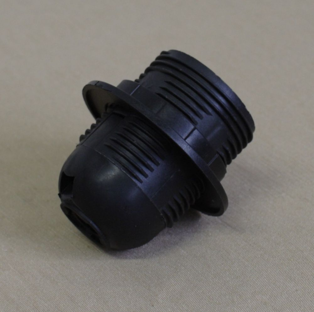 Электрический патрон Е27 черный