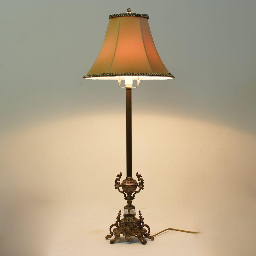 Каминная лампа с абажуром из латуни 224.02-T