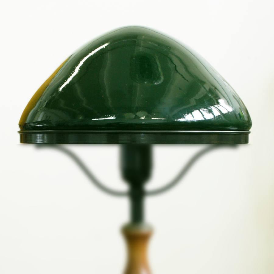 Зеленый плафон для настольной лампы темный