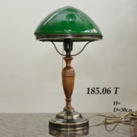 Лампа Ильича с зеленым плафоном 185.06Т латунь