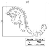Рожок для люстры и бра А022 (кронштейн)