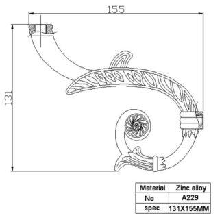 Рожок для люстры и бра А229 (кронштейн)