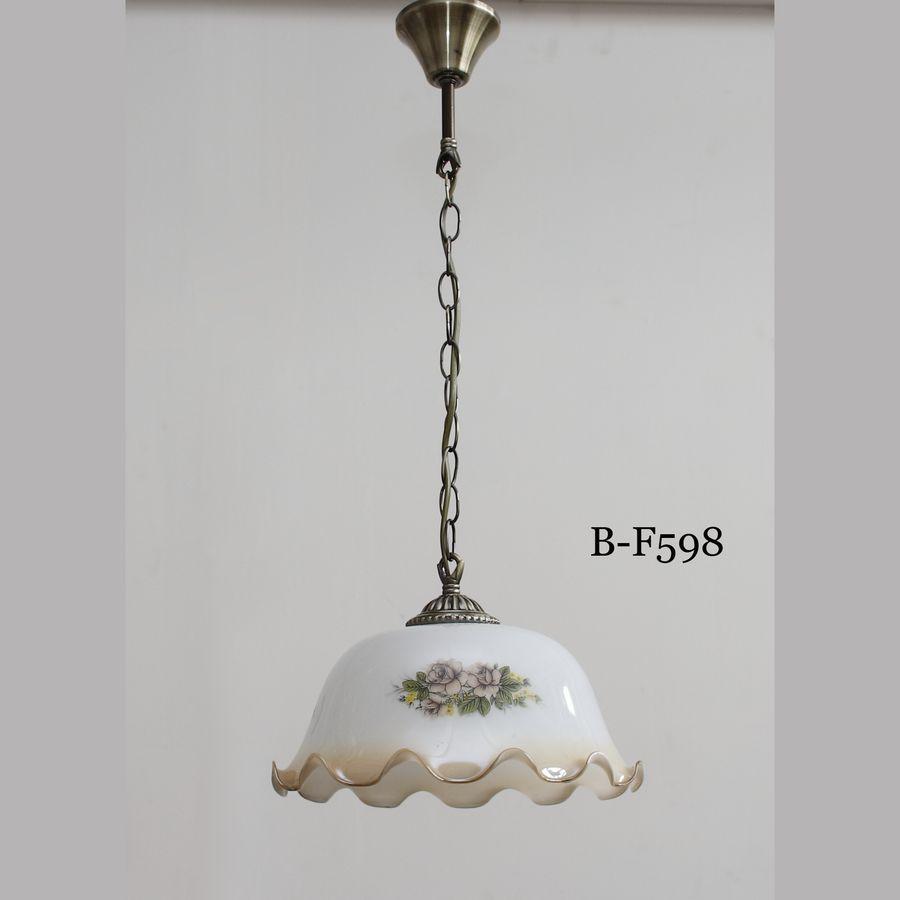 Стеклянный плафон с аппликацией для ламп и подвесов B-F598
