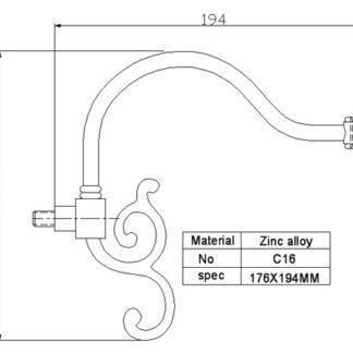 Рожок для люстры и бра С16 (кронштейн)