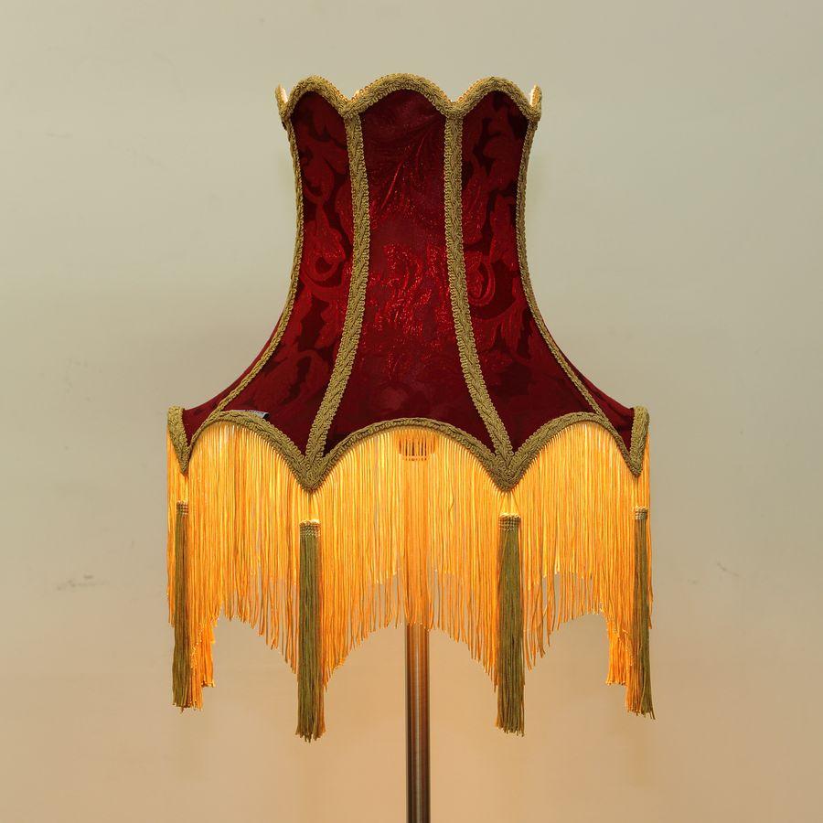 """Абажур для настольной лампы из бордовой ткани """"Дракула"""""""