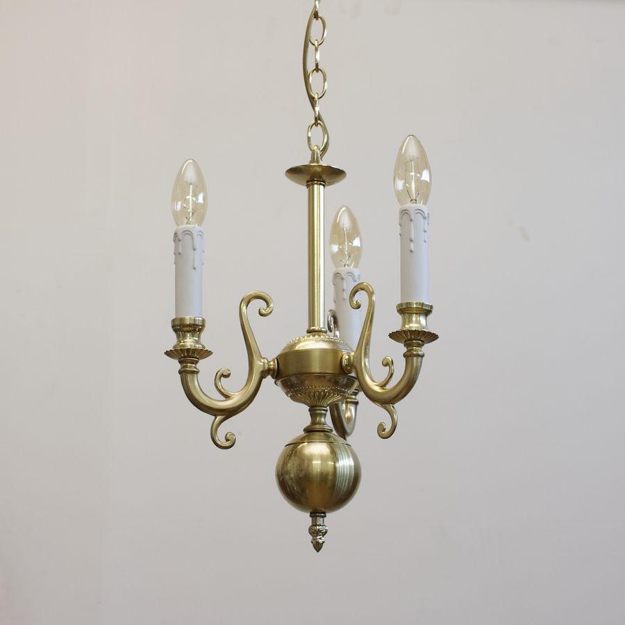 Люстра-подвес на 3 лампы ЛК158.02 матовое золото