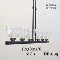 Подвесной светильник на штанге П238.01/6 с плафоном DB-005