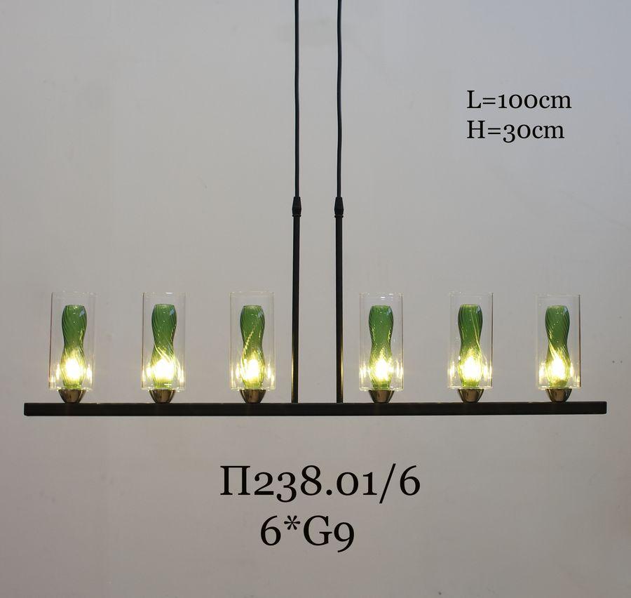 Подвесной светильник на штанге П238.01/6 с плафоном DT-Y357