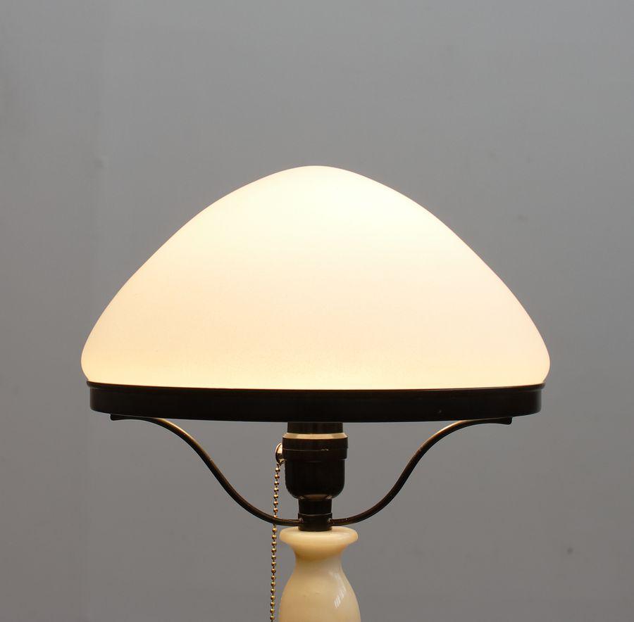 Плафон для настольной лампы СССР стекло, белый, матовый
