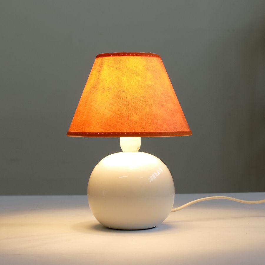 настольная лампа ночник 067.02T-795 с оранжевым абажуром