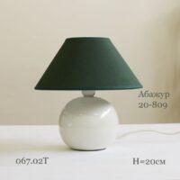 настольная лампа ночник 067.02T-809 с зеленым абажуром