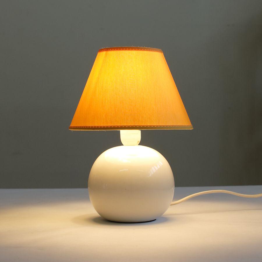 настольная лампа ночник 067.02T-810 с жёлтым абажуром