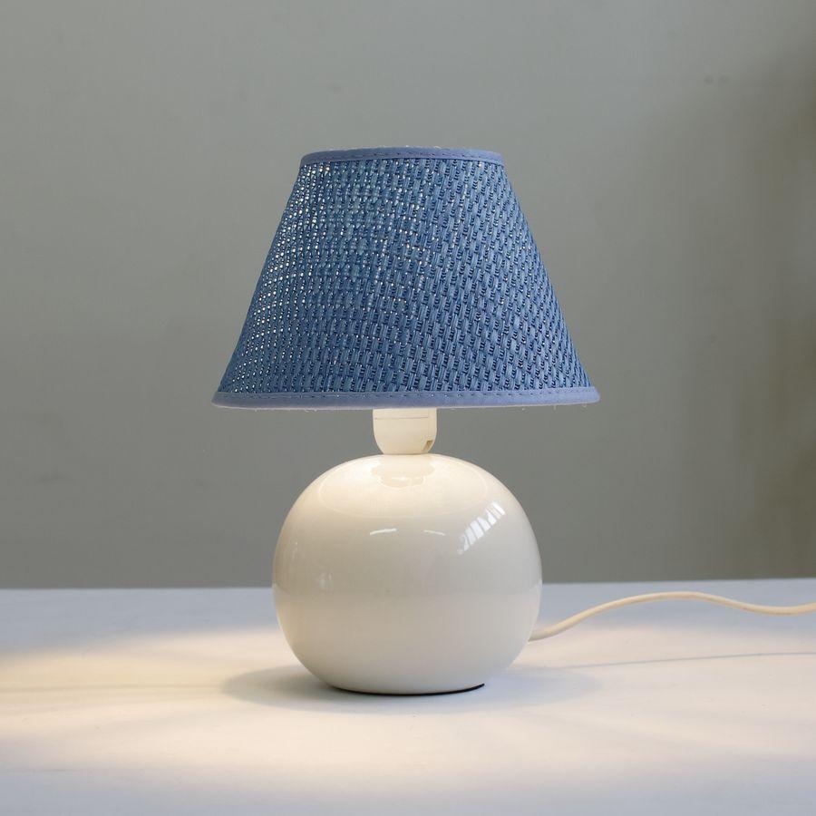 настольная лампа ночник 067.02T-905 с голубым абажуром