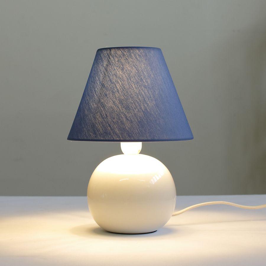 настольная лампа ночник 067.02T-820 с синим абажуром