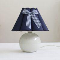 настольная лампа ночник 067.02T с синим абажуром бант