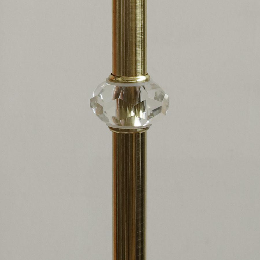 Классический торшер с кристаллами и абажуром 1339.02 F