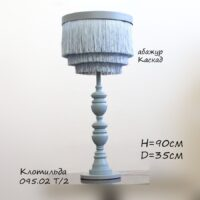 Настольная лампа из дерева, с абажуром каскад 095.02.32Т Клотильда